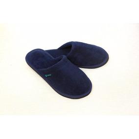 Pantuflas Towell De Hombre Negro Azul Gris 40/41 42/43 44/45