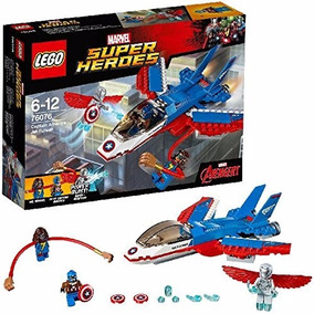 Lego Super Heroes 76076 Jet Del Capitan America Avengers Edu