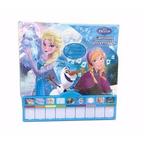 Libro Didactico Musical Frozen Con Piano Disney
