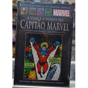 Graphic Novel Vida E A Morte Do Capitão Marvel 1 E 2 Salvat
