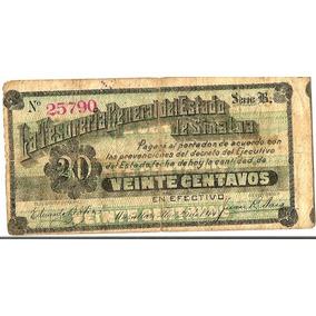 Billete De 20 Cvs Sinaloa