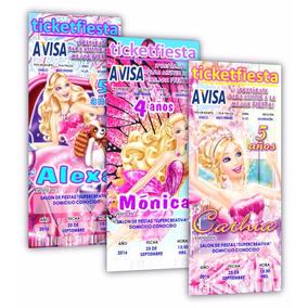 Diseño De Invitaciones Imprimibles Barbie