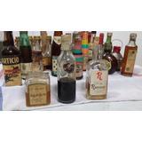 Antigua Botella Botellita Vidrio Coleccion King Henry Whisky