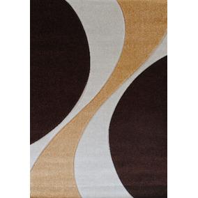 alfombra moderna curve marrn relieve xcm kreatex