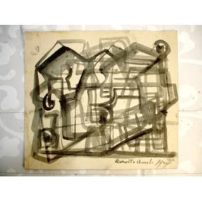Obra Original Burle Marx Aquarela Sobre Cartão Datado 1960
