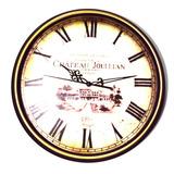 Relógio Parede Le Chateau 33cm Romanos Tic-tac Kienzle