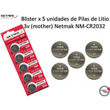 Blister X 5 Unid. Pilas De Litio 3v Mother Netmak Nm-cr2032