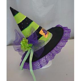 Sombrero D Bruja Adulta Dia Muertos Halloween Disfraz Verde