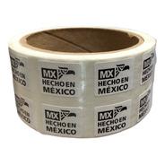 1000 Etiquetas Autoadheribles Hecho En Mexico De 9x13mm