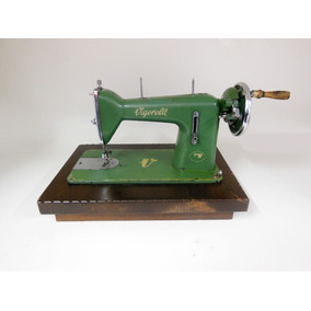 Máquina Costura Antiga Vigorelli Manual C/ Base Madeira