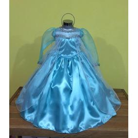 Vestido Disfraz Princesa Elsa De Frozen Talla 12