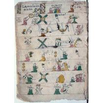 Lienzo Tela Códice Catecismo Indígena Hoja 1 Siglo 17 México