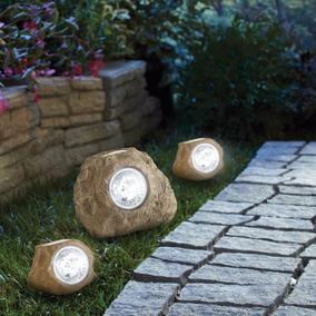 luces pjardin forma roca pz decorativas solares garantia