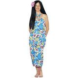 Disfraz Traje Hawaiano De Halloween Del Vestido De Luau De