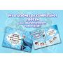 40 Invitaciones De Frozen! Variedad Para Elegir!