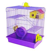 Gaiola Hamster 3 Andares Lilás Russo Chinês Sírio Oferta