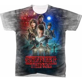 Camisa Camisetas Blusas Manga Curta Serie Stranger Things 07