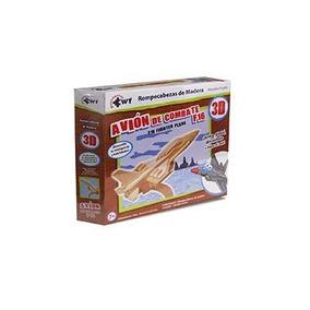 Rompecabezas 3d De Madera Pequeno Avion De Combate