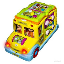 Juguete Juguete Del Autobús Escolar Amarillo Wolvol Activid