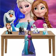 Kit Toten Display Festa Chão/mesa Frozen Painel 100x70