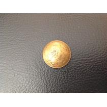 Antiguo Boton De Moneda De Cinco Centavos