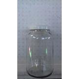 Pote De Vidro Com Tampa De Plastico Branca - 3 Litros