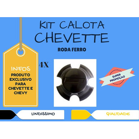 Jogo Calota Centro Roda Chevy Chevette Roda Original Top