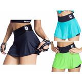 Kit Com 3 Shorts Saia Feminino Academia Treino Caminhada