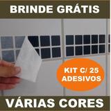 Kit 25 Adesivos Imita Pastilha + Brinde - Azulejo (30x6cm)
