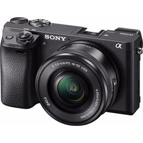 Câmera Sony Alpha A6300 + Lente 16-50mm Mirrorless 4k Wifi