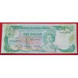 Belice Billete 1 Dolar Vf- 1980 Reina Isabel I I