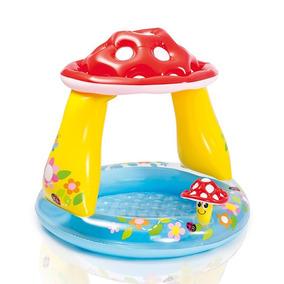 Piscina Para Edades 1-3, 40 X 35 Intex Mushroom Baby