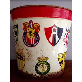 Antiguo Bote Hielera De Fútbol Años 60