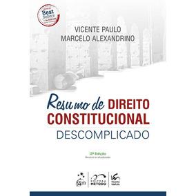 Resumo De Direito Constitucional Descomplicado - Metodo