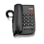 Telefone Com Fio Preto - Elgin Tcf 2000