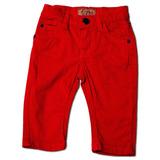 Calça Jeans Infantil Masculina Vermelha Tamanho 3-6 Meses