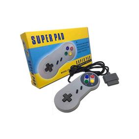 Controle Super Nintendo Feir Original Snes Cinza Novo