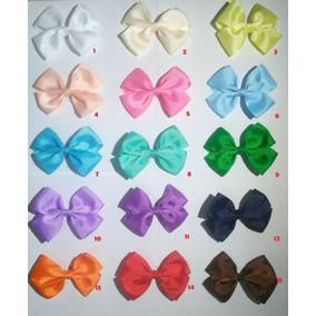 Paquete 10 Moños Para Niña 10cm Con Pinza Varios Colores
