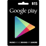 Cartão Google Playstore Gift Card Android R$15