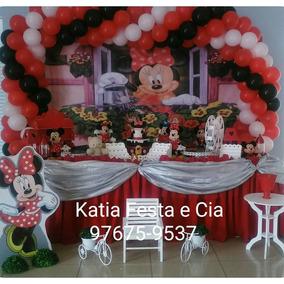 Decoração De Festa Infantil Minie Vermelha Aluguel Provençal
