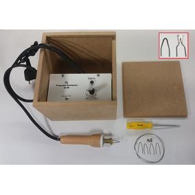Pirógrafo Profissional Para Gravação Madeira Couro 110 V