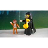 Playmobil Niño Con Disfraz Fantasma Y Niño Tigre Halloween B