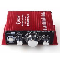 Mini Modulo Amplificador 2 Canais Carro Barco Mp3 Ipod