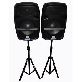 Parlante X 2 Consola Usb Sd Rca Mic Karaoke Soporte Blueth
