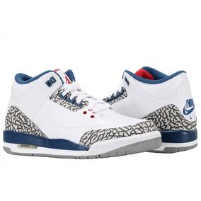 Tênis Nike Air Jordan 3 Retro Og Bg True Blue Gs, Imediato