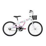 Bicicleta Caloi Ceci Aro 20 Feminina Branca E Rosa