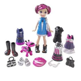 Polly Pocket Pop N Lock Electropop Lila Y El G-tar Set Moda