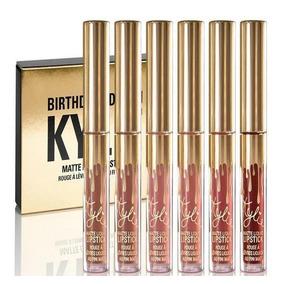 Kit Batom Kylie Jenner 6 Mini Batons Matte Birthday Edition