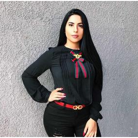 Camisa Moda 2018 Con Moño Victoriano Bienchicmx