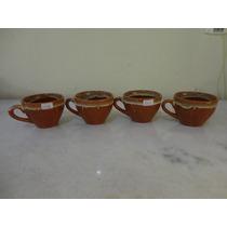 #19756 - Porcelana - 4 Xícaras Chá Porcelana Caramelada!!!